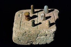 Different pieces on the chessboard,  IndusValley 2600 BC