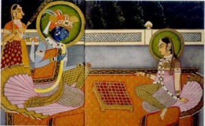 Ancient chess painting from India