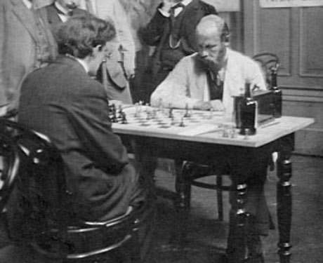 Frank Marshall playing Stepan Levitsky-Breslau 1912