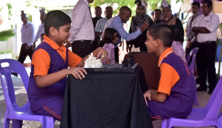 Ghiyasuddin International School - Kids Playing Chess - LearningChess.net