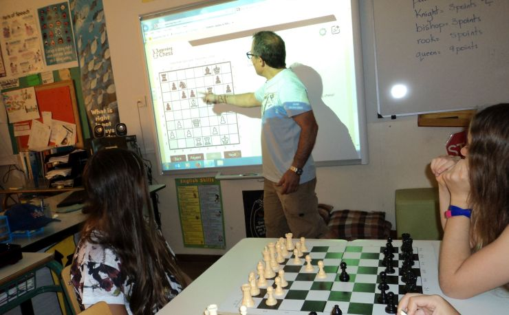 Smartboard presentation with LearningChess.net