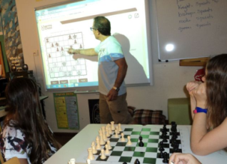 Smartboard presentation with LearningChess